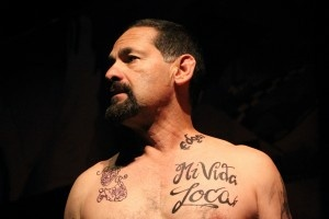 Actor Ric Salinas in the play,