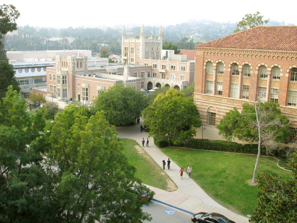 File photo showing the UCLA campus in Southern California.