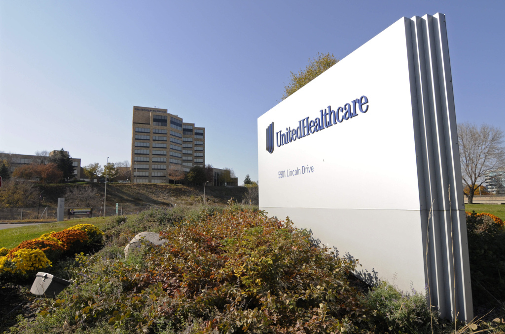 File: This Tuesday, Oct. 16, 2012, file photo, shows a portion of the UnitedHealth Group Inc.'s campus in Minnetonka, Minn.