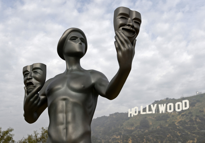 21st Annual SAG Awards Actor Visits The Hollywood Sign Then Reports To Work At The Shrine