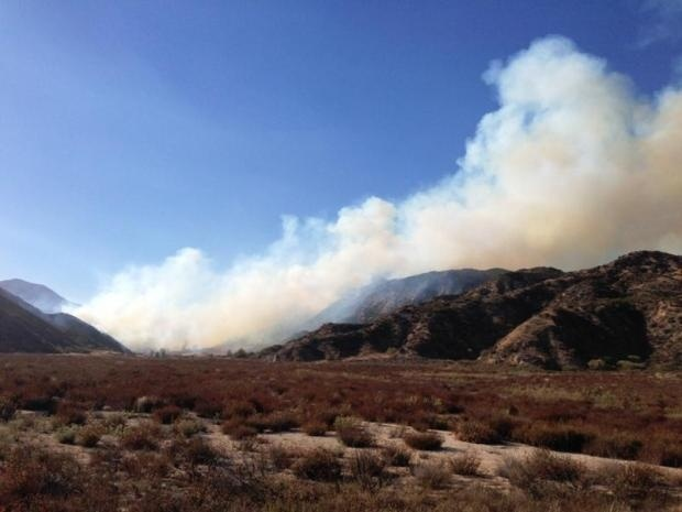 The Sierra Fire began in the hills of the Cajon Pass on Tuesday, September 25, 2013.
