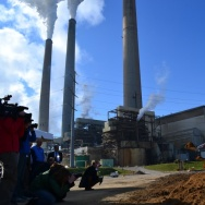 State and local leaders break ground at a Louisville, Ky., coal-burning power plant in November 2012.