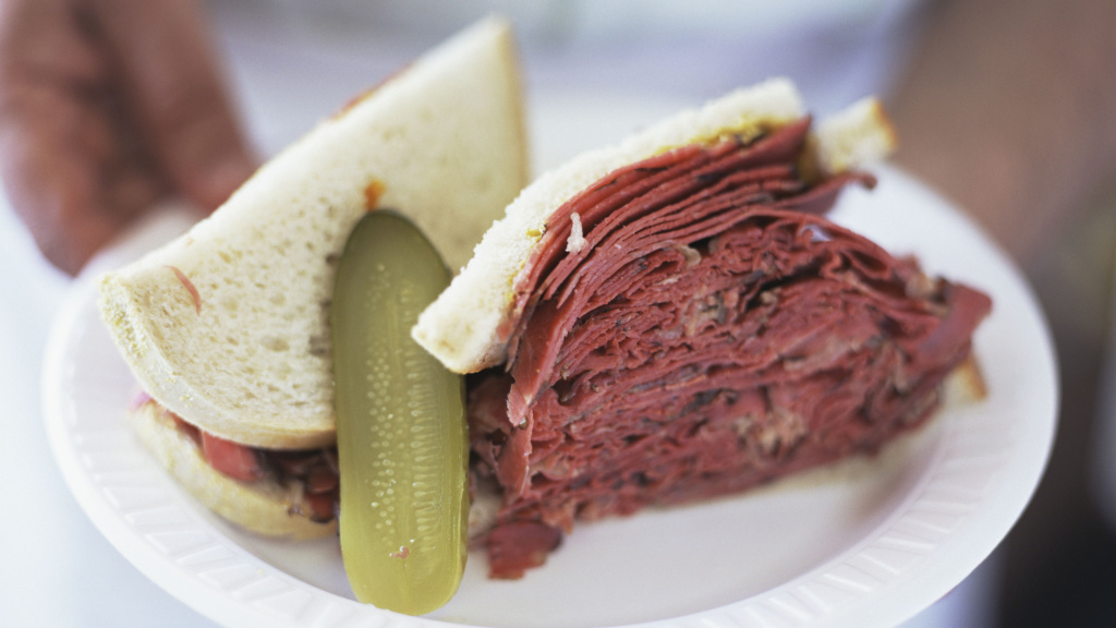 An imbalance between matter and antimatter in the universe produced all the things in existence, including corned beef sandwiches.