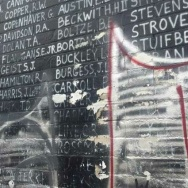 Defaced Venice War Memorial Covered For Now 89 3 Kpcc