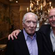 "Songwriters Jerry Leiber (L) and Mike Stoller at the release party for their autobiography ""HOUND DOG"" at a private residence on June 7, 2009 in New York City."
