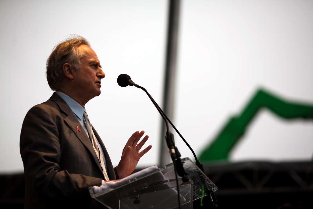 Richard Dawkins, founder of The Richard Dawkins Foundation for Reason and Science, speaks during the National Atheist Organization's