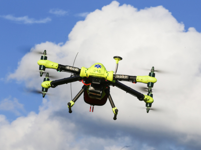 A drone was faster at getting to a person's house than an ambulance, according to test runs conducted by Swedish researchers.