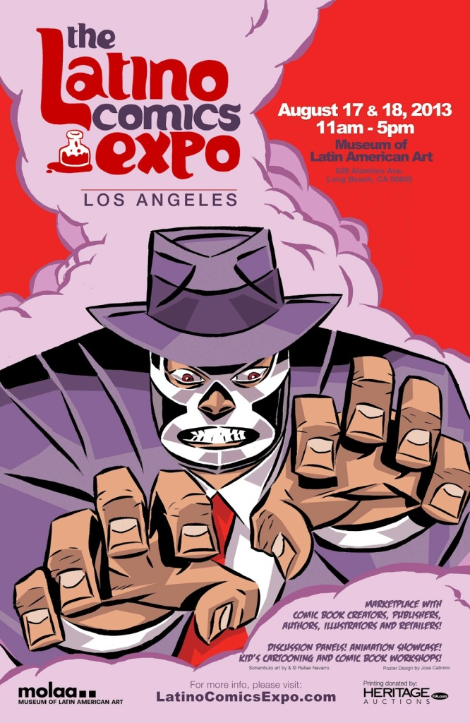 Poster for the Latino Comics Expo.