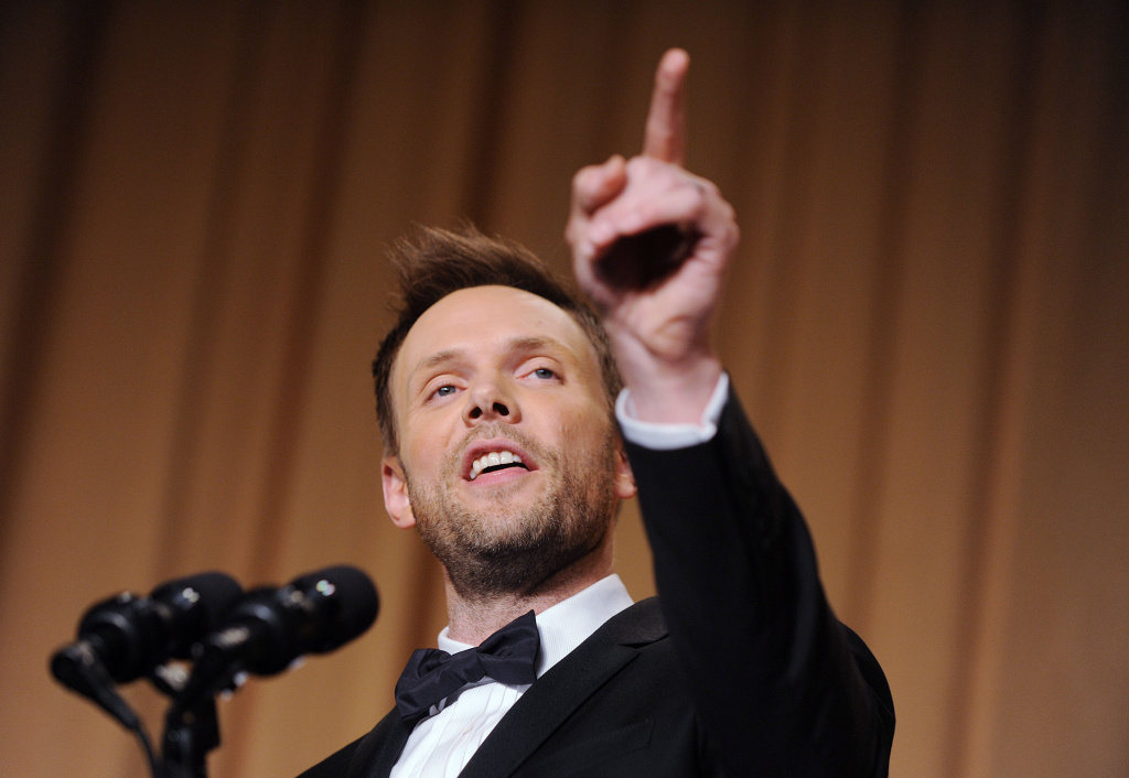 Comedian Joel McHale speaks at the annual White House Correspondent's Association Gala at the Washington Hilton hotel May 3, 2014 in Washington, D.C. The dinner is an annual event attended by journalists, politicians and celebrities.