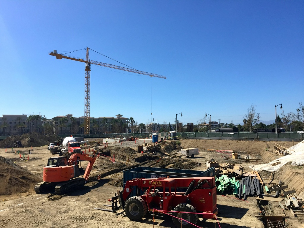 One of the many construction sites in Playa Vista, where tech companies now occupy 80 percent of office space, according to CBRE.
