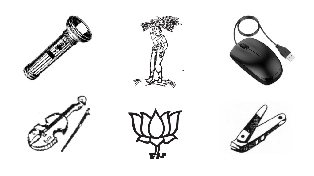 India offers hundreds of symbols for political parties. The flashlight,