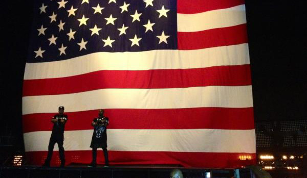"Jay-Z and Kanye West's ""Watch The Throne"" concert at Staples Center, Dec. 12, 2011."