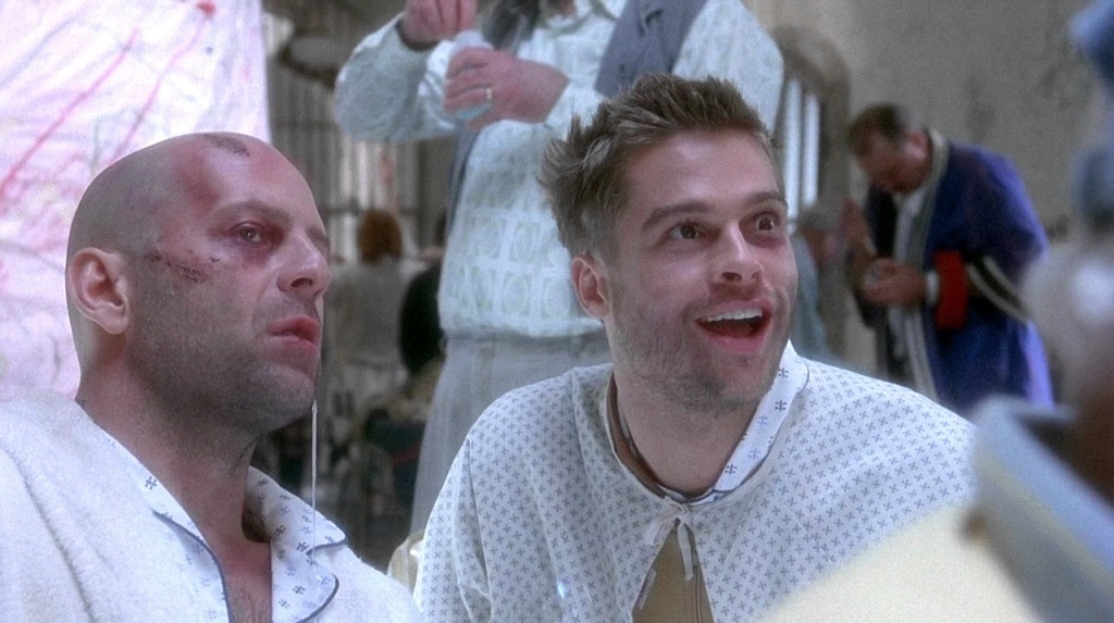 """Bruce Willis and Brad Pitt in """"Twelve Monkeys"""""""