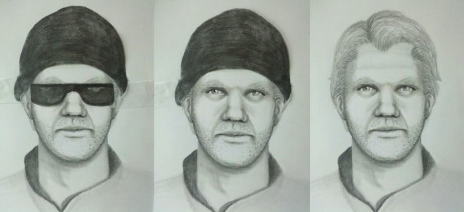 Composite sketches of the Snowboarder Bandit