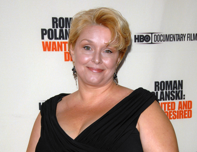 FILE - In this May 6, 2008 file photo, Samantha Geimer arrives at the premiere of the HBO Documentary