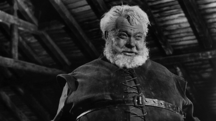 Orson Welles as Falstaff in his