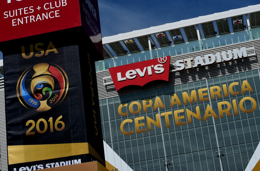 Levi's Stadium, home of the San Francisco 49ers and venue for the first COPA America 2016 soccer match between the United States and Colombia, is seen in Santa Clara, California on June 1, 2016. / AFP / Mark Ralston        (Photo credit should read MARK RALSTON/AFP/Getty Images)