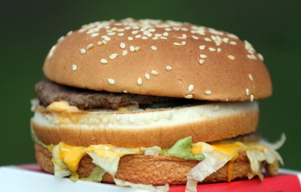 A burger from a fast food outlet is seen on January 7, 2013 in Bristol, England. A government-backed TV advert - made by Aardman, the creators of Wallace and Gromit - to promote healthy eating in England, is to be shown. England has one of the highest rates of obesity in Europe - costing the NHS 5 billion GDP each year - with currently over 60 percent of adults and a third of 10 and 11 year olds thought to be overweight or obese. (Photo by Matt Cardy/Getty Images)