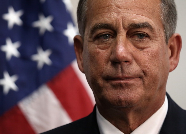 U.S. Speaker of the House Rep. John Boehner (R-OH) listens during a news briefing after a House Republican Conference meeting January 14, 2014 on Capitol Hill in Washington, DC. Congressional negotiators have reached to an agreement of a $1.1 trillion spending bill to avoid another government shutdown when the current funding ends tomorrow.