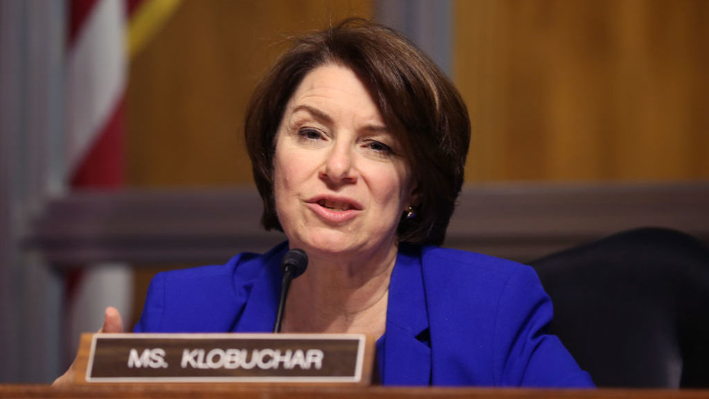 Sen. Amy Klobuchar, D-Minn., a former prosecutor, is part of a group of lawmakers relaunching an effort to support newly released ex-prisoners.