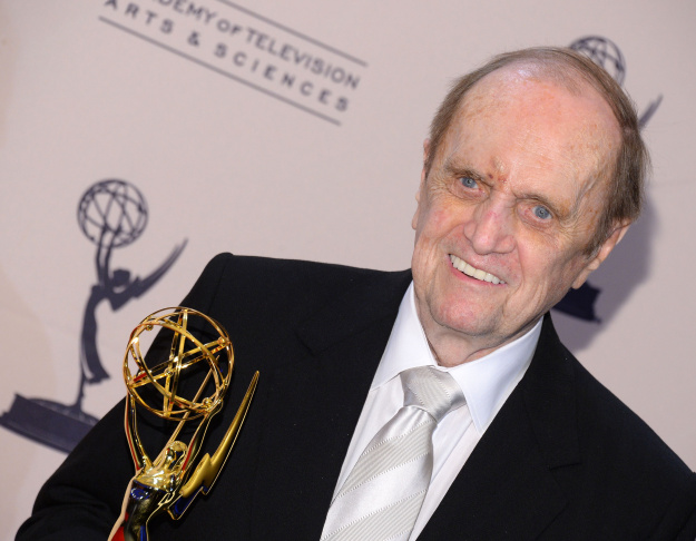 Actor Bob Newhart poses with the award for outstanding guest actor in a comedy series for