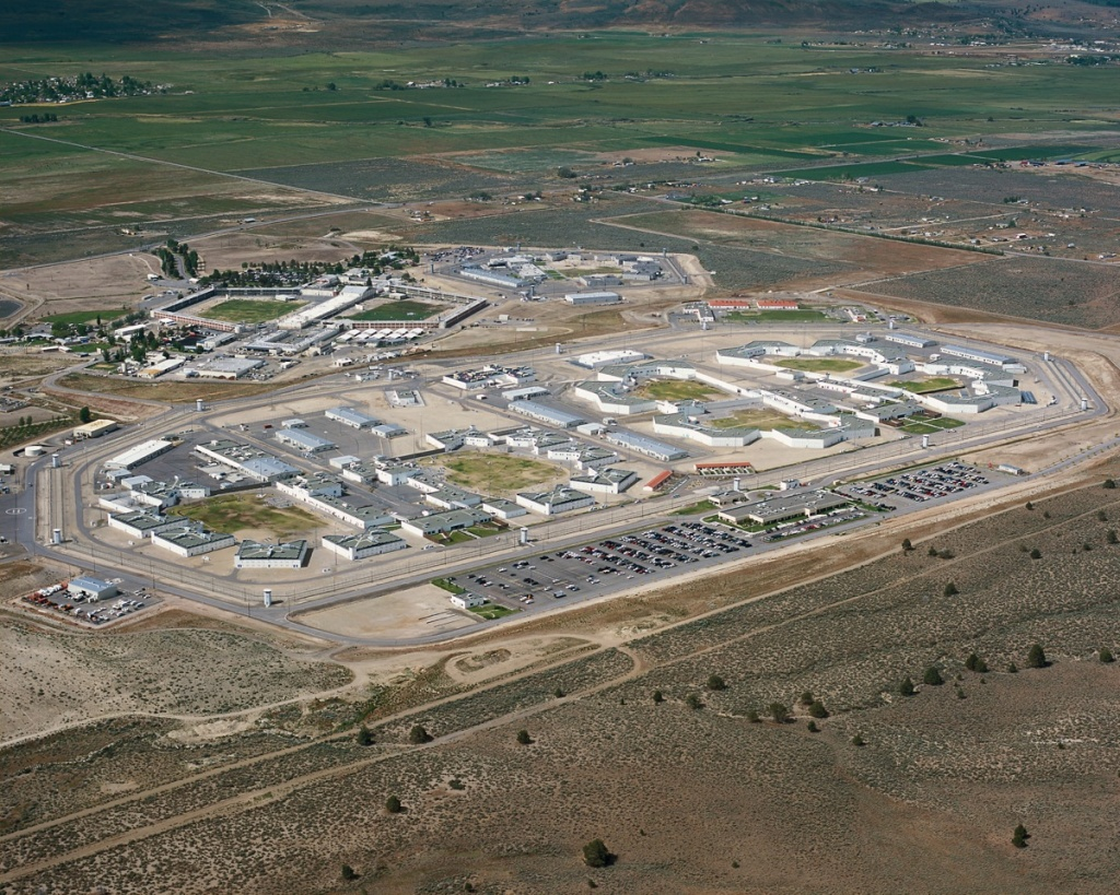 An aerial shot of High Desert State Prison in Susanville, California.