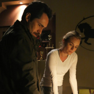Demian Bichir, left, and Diane Kruger star in FX's cross-border crime drama The Bridge.