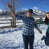 High school sophomores Liam Johnson and Izzy Casandra-Newsam in Utah for the Sundance Film Festival.