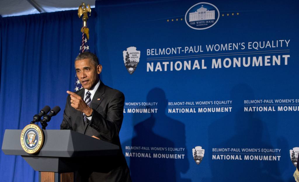 On Equal Pay Day, President Obama marks the designation of a women's equality national monument.