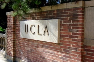 A sign on UCLA's campus.