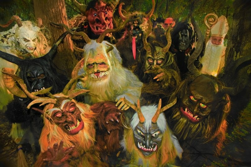 The Krampus LA Troupe.