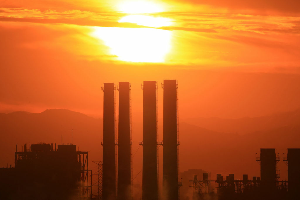 The Department of Water and Power (DWP) San Fernando Valley Generating Station is seen December 11, 2008 in Sun Valley, California. California is making a carbon-credit market that will change the ways utilities generate power, businesses use electricity, and personal transportation.