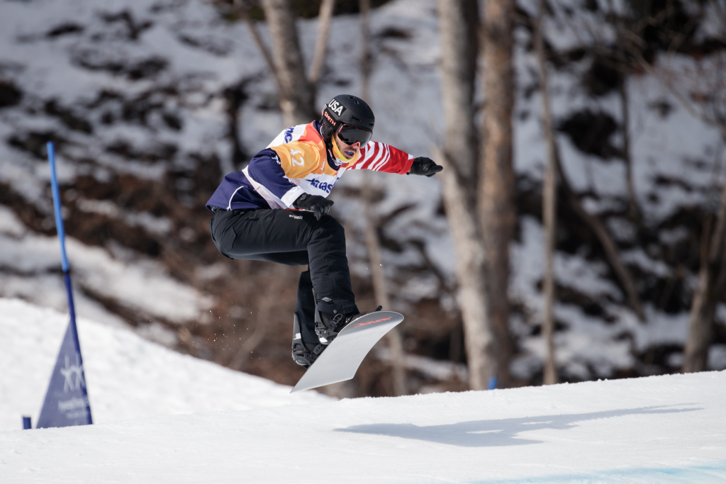 Snowboarding Paralympian Mike Shea competes Monday in snowboard cross at the Pyeonchang winter games.