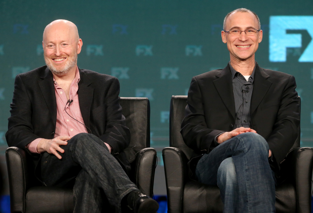 Executive producers Joel Fields (L) and Joe Weisberg of the television show 'The Americans.'