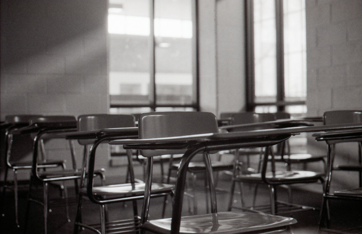 empty classroom school vacation walkout