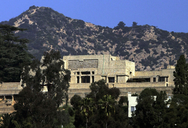The Ennis-Brown House, designed by architect Frank Lloyd Wright in 1924, is pictured on March 7, 2005 in Los Angeles, California.