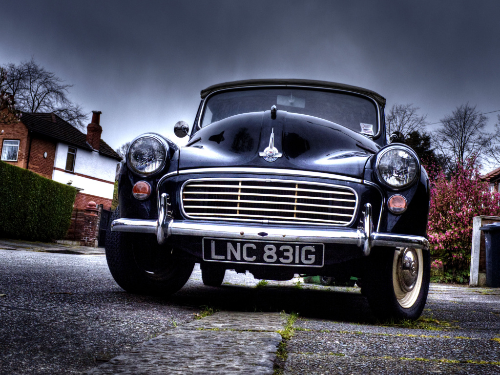 A vintage car.