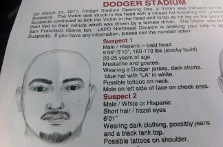 Police fliers have been circulating the city since the March 31 Dodger Stadium beating of Bryan Stow.
