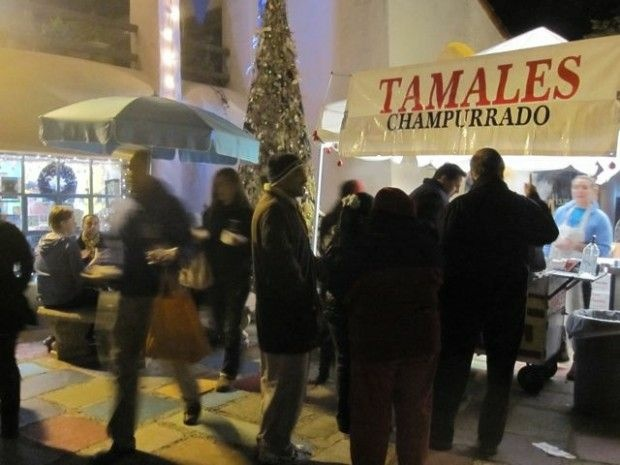 Cold revelers, hot tamales. December 3, 2010