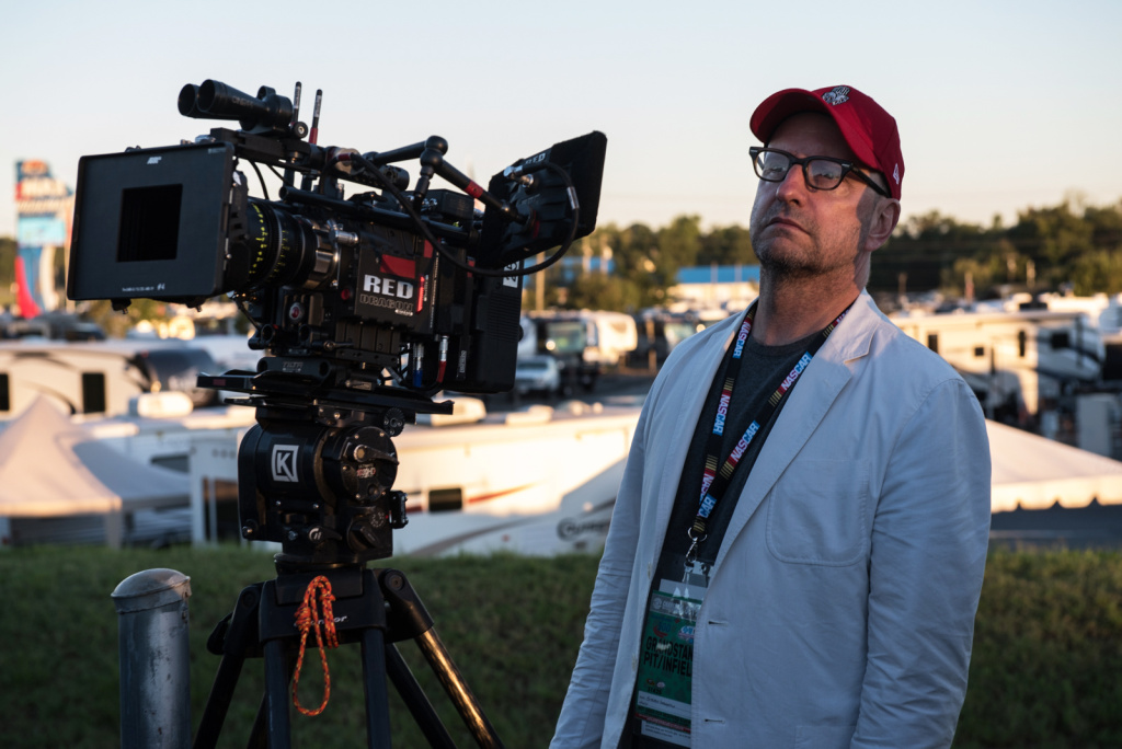 Director Steven Soderbergh on the set of his film,