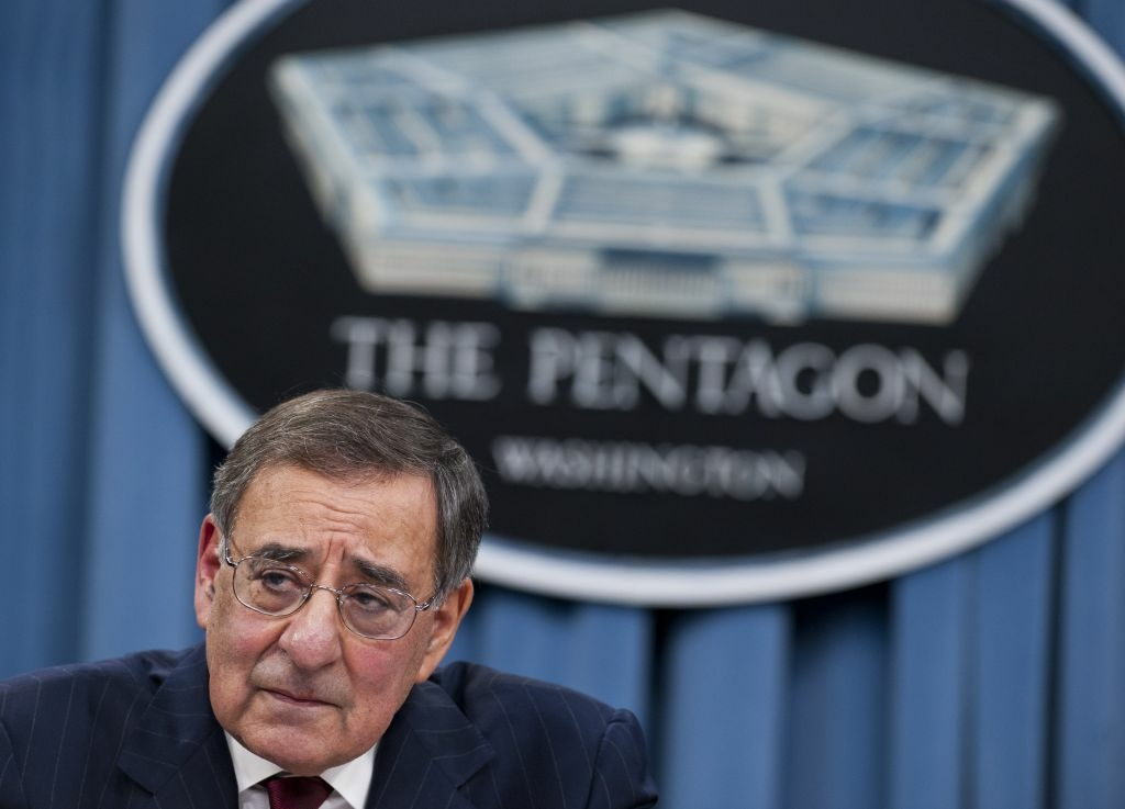 US Secretary of Defense Leon Panetta speaks during a press conference at the Pentagon in Washington, DC, on January 10, 2013.