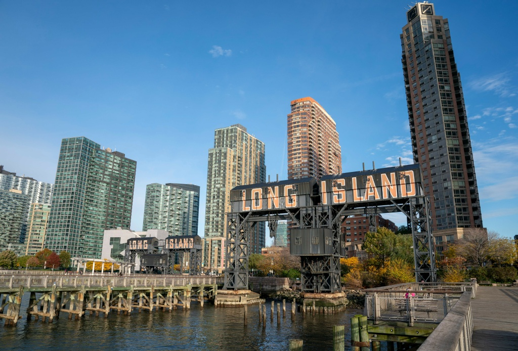 A view of the waterfront of Long Island City in the Queens borough of New York on November 7, 2018. Amazon is planning to split its coveted second headquarters between two US cities rather than pack it into a single urban setting, US media reported on November 5, 2018.