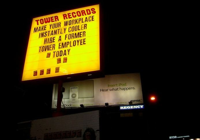 tower records sunset blvd