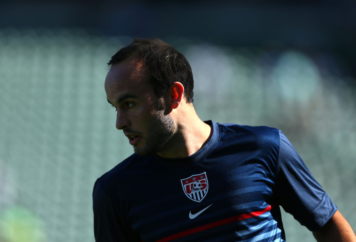 File: Landon Donovan #10 of the USA warms up prior to their international friendly match against the Korea Republic at StubHub Center on Feb. 1, 2014 in Los Angeles.