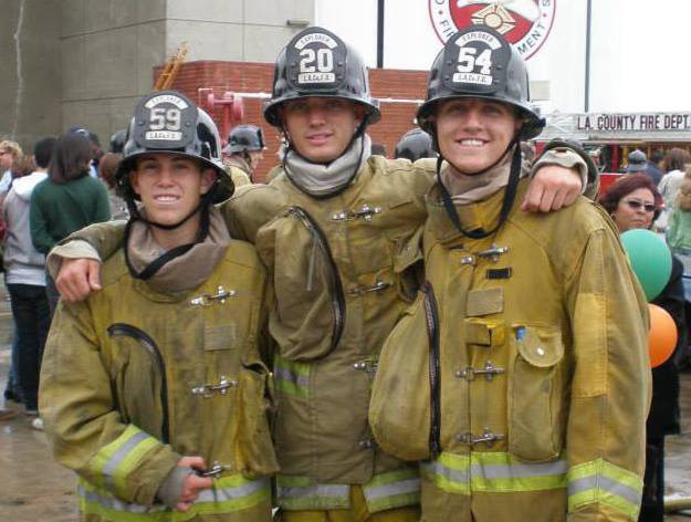 Video, photos and journalist observations will soon be available of the site where 19 firefighters died while battling an Arizona wildfire. (File photo: Kevin Woyjeck (L) with other firefighters. Woyjeck was killed fighting the Yarnell Hill Fire in Arizona.