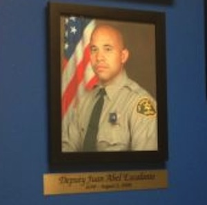 A photo of slain Los Angeles County Sheriff's Deputy Juan Abel Escalante.