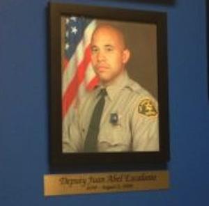 A photo of slain Los Angeles County Sheriff's Deputy Juan Abel Escalante.