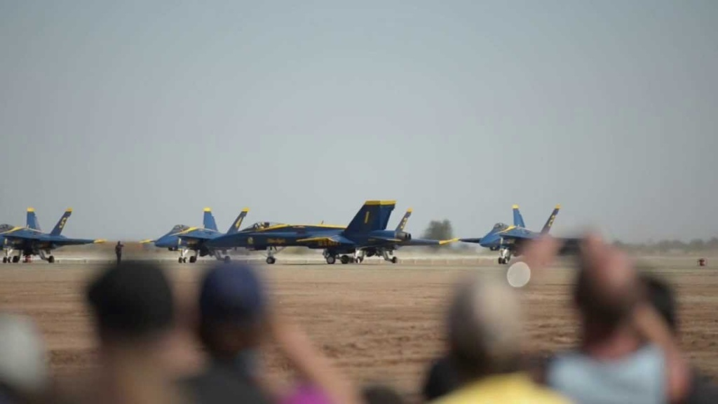Highlights of the Blue Angels performance at the NAF El Centro Air Show courtesy of the Imperial Valley Press.