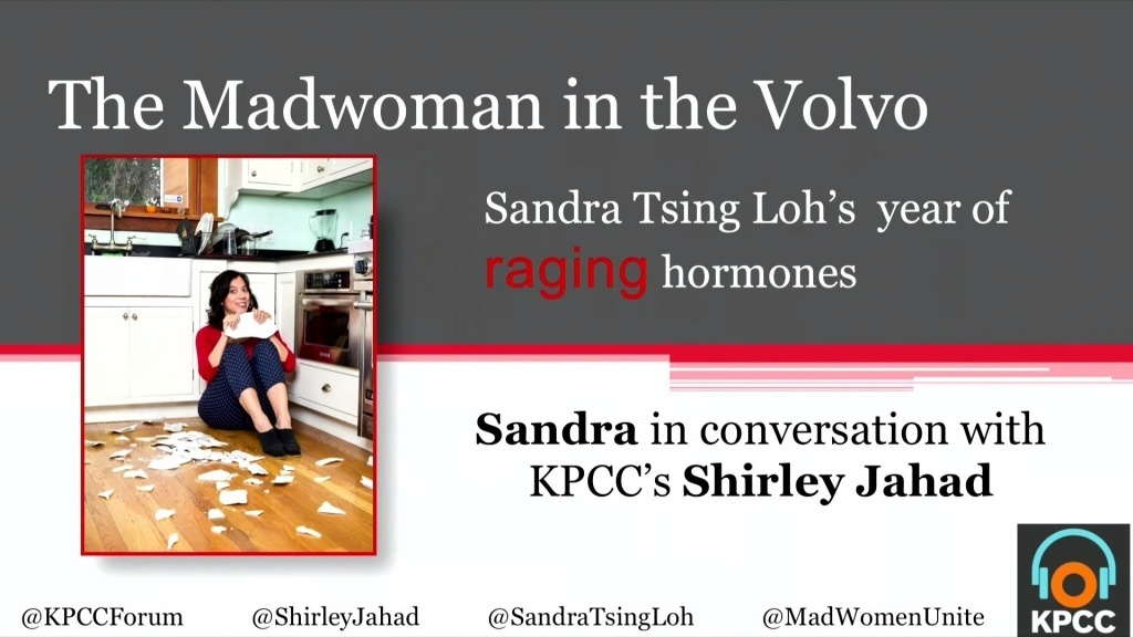 Sandra Tsing Loh chronicles utterly relatable, everyday perils: raising preteen daughters, weathering hormonal shifts, and going through the see-saw of a career and a relationship.