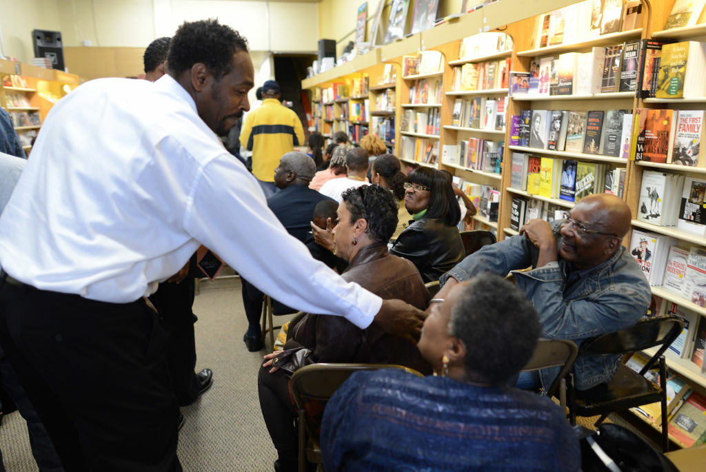 Rodney King arrives at the EsoWon books store to sign copies of his new book, 'The Riot Within: My Journey From Rebellion to Redemption,' on April 30, 2012 in L.A.